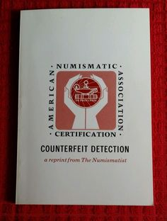 American Numismatic Association Counterfeit Detection 1978 First Edition Rare pb