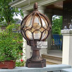 52.00$  Buy now - http://ali1o1.worldwells.pw/go.php?t=32260936180 - European-style garden light garden outdoor ball column light waterproof wall outdoor Table light Cafe Bar Store Coffee Shop