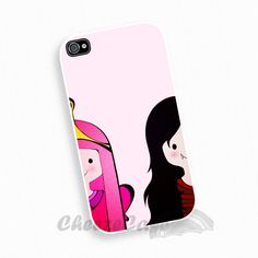 Princess Bubblegum Marceline The adventure time iPhone 4 Case, iPhone case, iPhone 4s Case, iPhone 4 Cover, Hard iPhone 4s Need this right now!