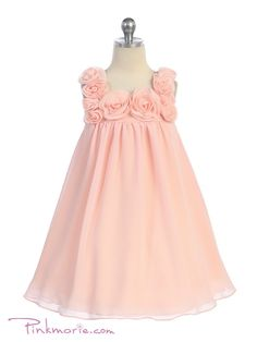 Peach HI Multi Chiffon Fancy Girl Dress