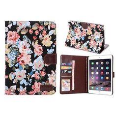 Чехол-книжка Leather Flowers Case на iPad Mini 1, 2, 3