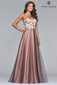 4e7a3f13862 Faviana S10023. Formal DressesFloral ...