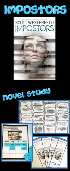 Impostors by Scott Westerfeld Novel Study with Discussion Cards Guided Reading Activities, Reading Resources, School Resources, Writing Activities, Teaching Reading, Teacher Resources, Teaching Ideas, Interactive Activities, Classroom Activities