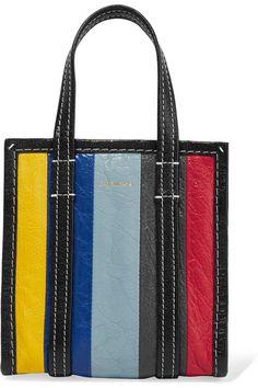 e47a07518f Balenciaga - Bazar XXS striped textured-leather tote
