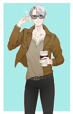 "rianemone: ""Viktor ""arrives-15-minutes-late-with-Starbucks"" Nikiforov """
