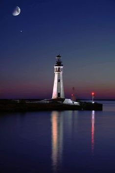 Beautiful World, Beautiful Places, Beautiful Pictures, Beautiful Moon, Amazing Places, Lago Erie, Saint Mathieu, Lighthouse Pictures, Belle Photo