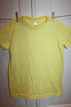Children's ScreenPrinted Rainbow ShortSleeve T-Shirt by ThisLittlePiggyNWA, $22.00