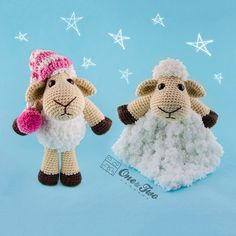 Combo Pack  Chloe the Sheep Lovey and by oneandtwocompany on Etsy