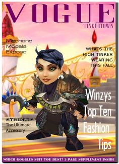 Fake gnomish magazine for a world of warcraft roleplaying video of the Gnomish Rescue Squad http://gnomishrescuesquad.org