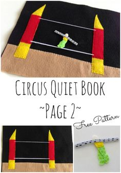 Page 2 in the Circus quiet book series. The high wire! I'm loving this series.