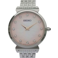 Stainless Steel Bracelet, Stainless Steel Case, Young Fashion, Seiko Watches, Mother Pearl, Watch Brands, Chronograph, Quartz, Crystals