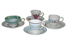 Assorted  Demitasse Cups, Set of 4 on OneKingsLane.com