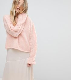 OneOn Hand Knitted Cable Sleeve Sweater - Pink