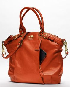 Coach 'Madison' Leather Lindsey Satchel. Perfect Fall Bag.