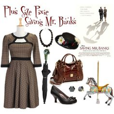 """""""Plus Size Pixie: Saving Mr. Banks"""" by plussizepixie on Polyvore"""