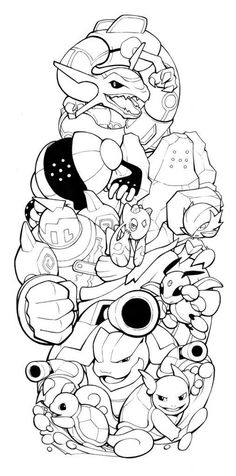 Pokemon Sleeve 4 by on DeviantArt Pokemon Coloring Pages, Colouring Pages, Coloring Sheets, Adult Coloring, Coloring Books, Kids Colouring, Gengar Tattoo, Pokemon Tattoo, Pokemon Fan Art