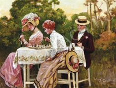 Margitay, Tihamér (1859 - 1922). Chess Players in Open Air ChessBaron.co.uk supports ladies playing chess!