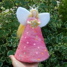 Angel Christmas Tree Topper, Christmas Fairy, Little Christmas, Christmas Angels, Christmas Ornaments, Needle Felting, Table Decorations, Sewing, Holiday Decor