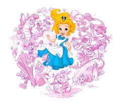 Adorable Alice in Wonderland piece by #WhitneyPollett