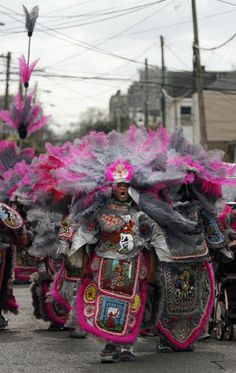 Big Chief Al Womble. I so enjoyed seeing the Indians at Mardi Gras. They work ALL year on their beaded costumes.and PINK! American Indians, Native American, Mardi Gras Carnival, New Orleans Mardi Gras, Indian Costumes, Mardi Gras Costumes, New Orleans Louisiana, Crescent City, Culture