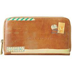 Fossil Handbag, Vintage Reissue Postal Zip Clutch found on Polyvore