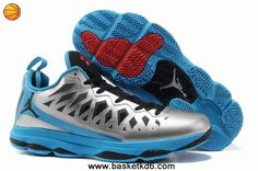 quality design f0263 f718e Jordan CP3.VI CP3 Shoes 2013 Metallic Silver Black Signal Blue Blue Glow Kd  Shoes