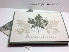 IMG_2685 Gently Falling stamps on Naturals Ivory Paper in Always Artichoke and Sahara Sand colors - SU and Simple Stampin