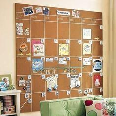11. DIY Cork #Board Calenders - 34 DIY Dorm Room Decor #Projects to Spice up Your Room ... → DIY #Decor