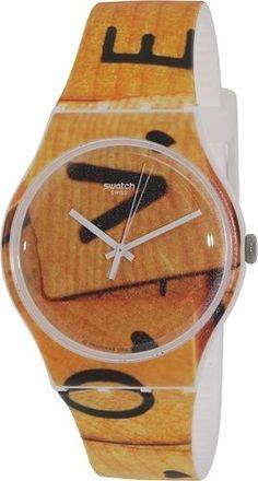 Swatch Women's Originals SUOW116 Brown Silicone Swiss Quartz Watch #Swatch #FashionWatches