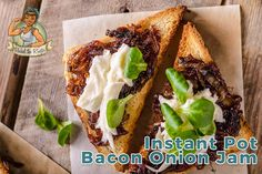 Bacon Onion Jam on Toast with Goat Cheese