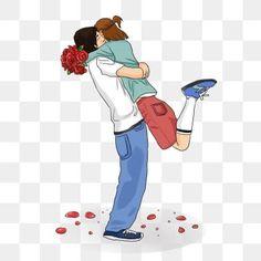 Valentines Day Border, Valentines Day Drawing, Valentines Day Background, Hug Illustration, Balloon Illustration, Hug Cartoon, Couple Cartoon, Romantic Hug, Couple Clipart