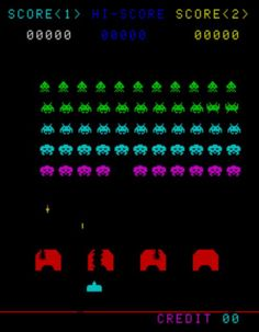 space invaders.  remarkable graphics! ...lol.