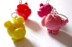 Little pig stitch markers set of 4 by AbsoKnittingLutely on Etsy, £8.00