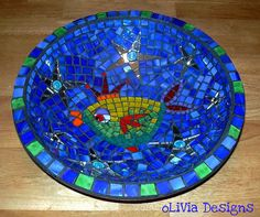 glass mosaic bowl by olivia alfred @Olivia Alfred My Goodness!! This is wonderful!