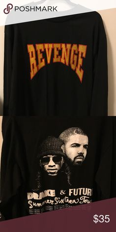 ff10680a2 Drake Revenge Shirt ✨ Revenge Drake shirt from the Summer Sixteen Tour.  Bought this shirt at his concert in Inglewood. Unisex size L. Feel free to  comment ...