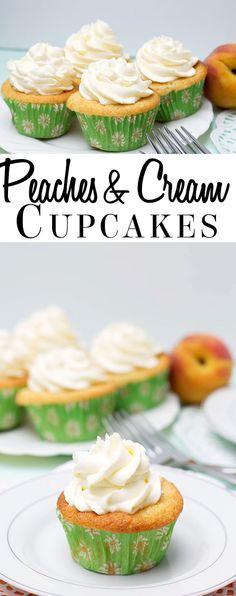 Peaches and Cream Cupcakes!