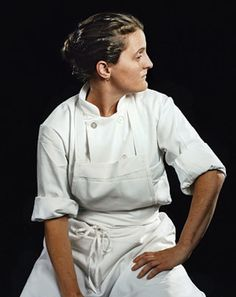 Chef April Bloomfield - a girl, her pig, my heart.