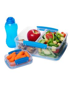 Take a look at this Blue Three-Piece Lunch Box Container Set by Sistema on #zulily today!
