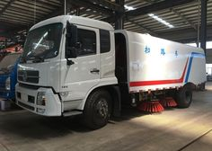 8000Liters road sweeper truck street cleaning truck-road sweeper truck