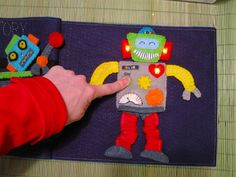 Robot Quiet Book with LED Lights by punquin, via Flickr