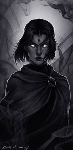 A quick one hours?) of Raven from Teen Titans! Comic Books Art, Comic Art, Raven Teen Titans Go, Raven Beast Boy, Dc Characters, Comics Universe, Detective Comics, Dc Heroes, The Villain