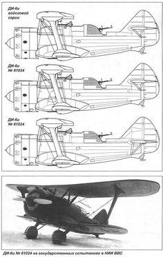 DI-6 / TsKB-11 (1935) - Soviet twin-seat fighter