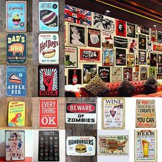 Retro Metal Sign Tin Poster Tavern Pub Bar Club Cafe Home Plate Wall Decor Paint #Unbranded