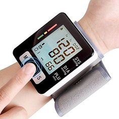50% OFF SALE PRICE - $19.99 - YDP-SPORT Automatic LCD Digital Wrist Monitor with Heart Rate with Case, Two User Modes, sphygmomanometer Digital Blood Pressure Monitor IHB Indicator
