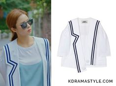 Yoon So Ah (Shin Se Kyung 신세경) wears a white cropped jacket with bluetrim in Episode 15 of Bride of the Water God. It istheLucky Chouette LFJAM17510WHX Sailor Short Jacket. Get itHERE for ₩368,000. Available from: Lucky Chouette– ₩368,000 ...