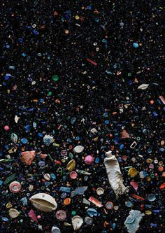 What would it be like to swim down through the estimated 100 million tons of trash swirling around in the Great Pacific Garbage Patch? Mandy Barker's photographs bring viewers probably as close as they'd ever want to come to finding out.
