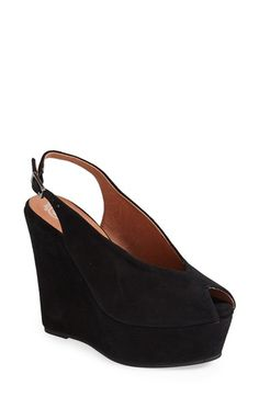 Jeffrey Campbell 'Grable' Suede Wedge Sandal (Women) available at #Nordstrom