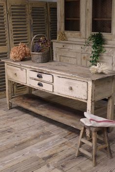 HOME DECOR – FURNITURE – TABLE – CONSOLE TABLE – Swedish antique counter table