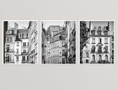Paris wall art set of 3 Black and white by RivuletPhotography Fine art prints — http://etsy.me/2gCnN6A #paris #setofprints #wallart #photography #blackandwhite #prints #buyonline #architecture