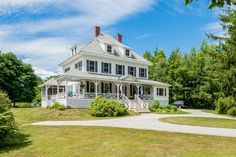 Local Wolfeboro landmark property located within walking distance to downtown! Built in 1902 this historic Victorian is situated on 1.5 level acres of yard, perennial gardens and raised vegetable beds. Carry Beach is right down the road on idyllic Lake Winnipesaukee. 17 Forest Road, Wolfeboro, NH 03894